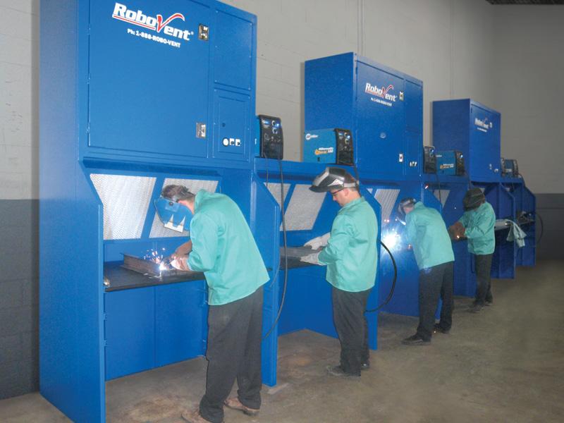 Welding Ventilation Equipment For Weld Training